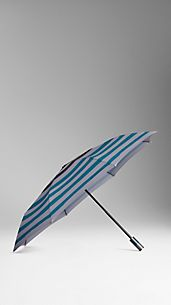 Folding Striped Umbrella