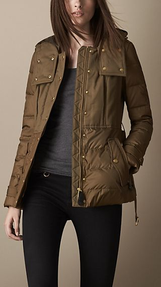 Down-Filled Belted Parka