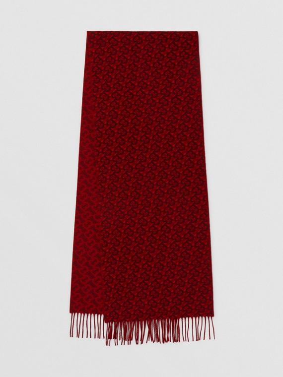 Écharpe en jacquard de cachemire Monogram (Rouge)