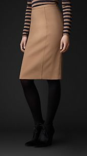 Bonded Crêpe Pencil Skirt