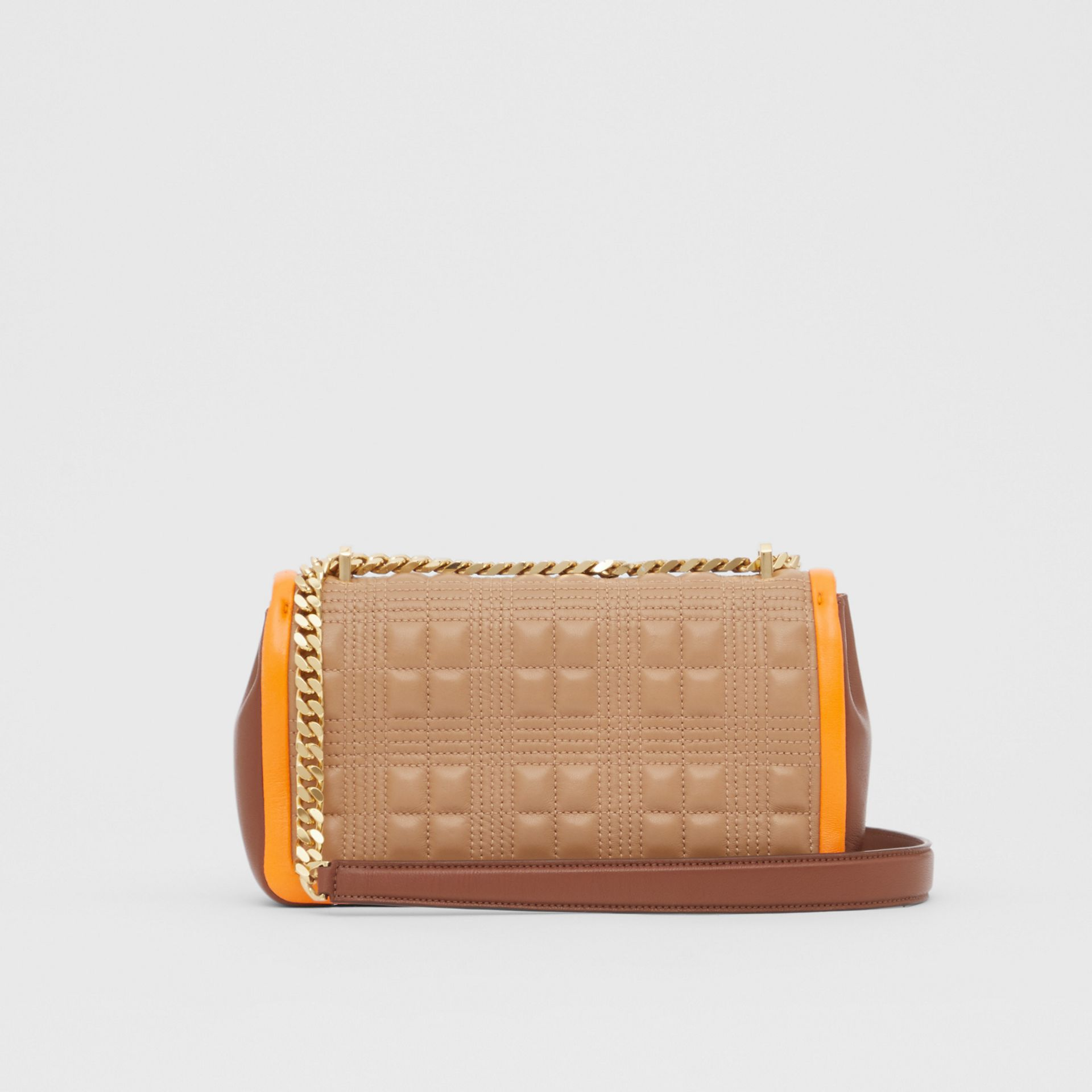 Small Quilted Tri-tone Lambskin Lola Bag in Camel/bright Orange - Women | Burberry - gallery image 7