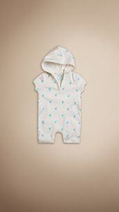 Burberry Baby Knight Hooded Playsuit