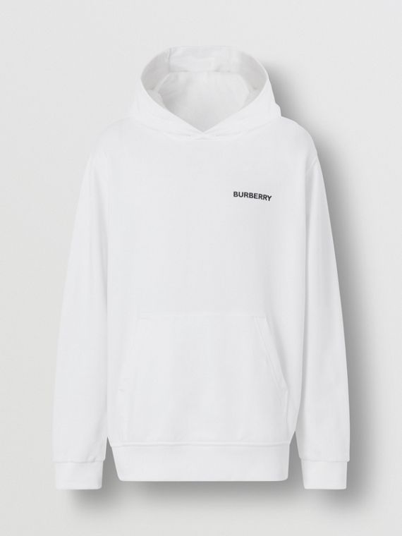 Monogram Motif Cotton Hoodie – Online Exclusive in White