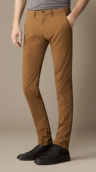 Slim Fit Cotton Poplin Chinos