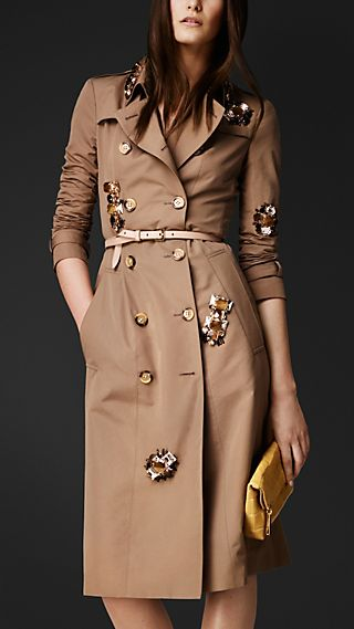 Scattered Gem Trench Coat