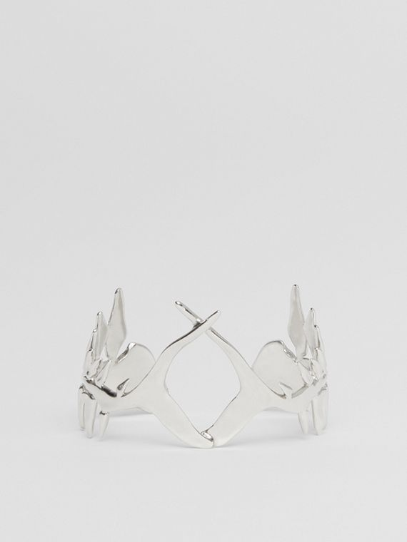 Palladium-plated Fish Bone Cuff