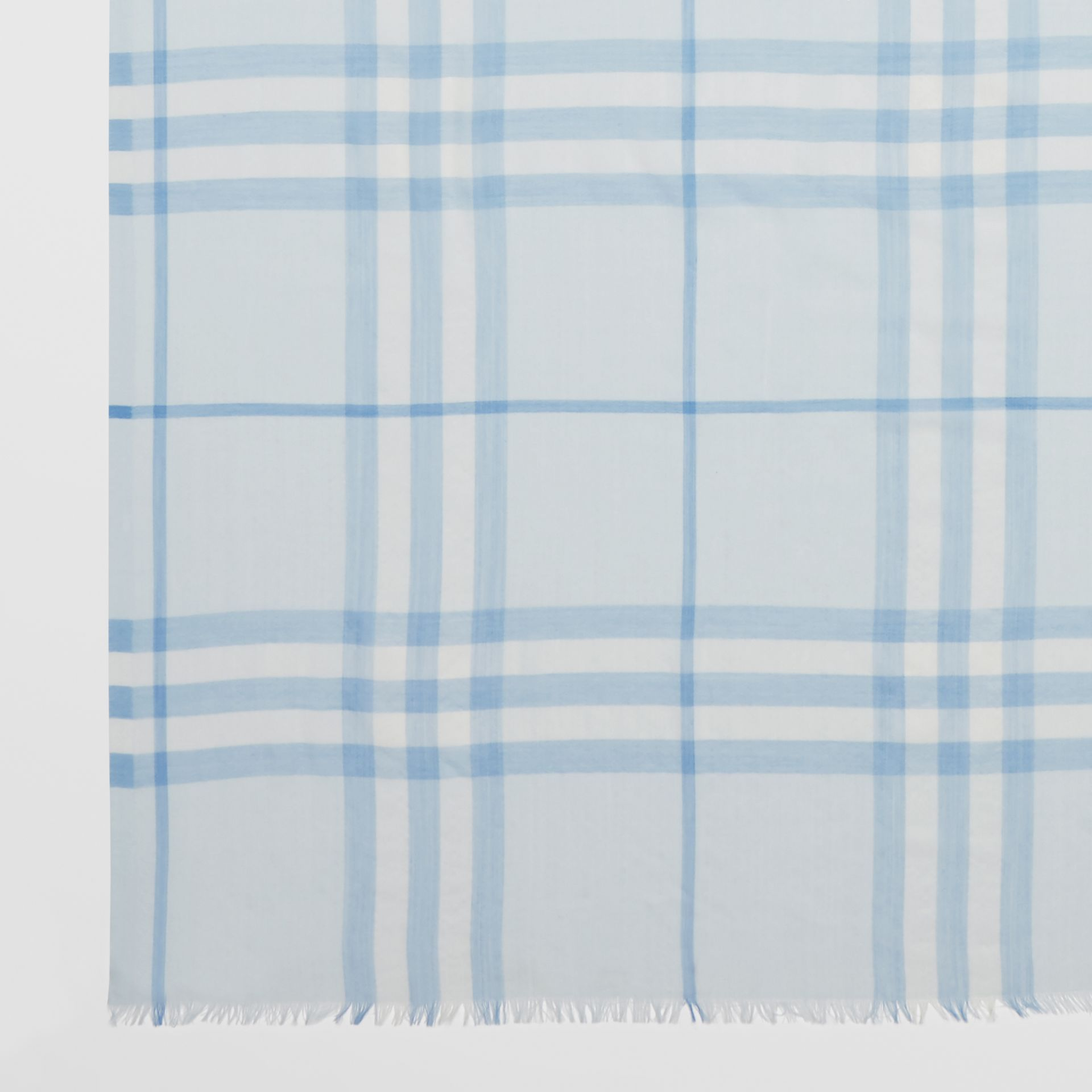 Lightweight Check Wool Silk Scarf   Burberry United Kingdom - gallery image 1