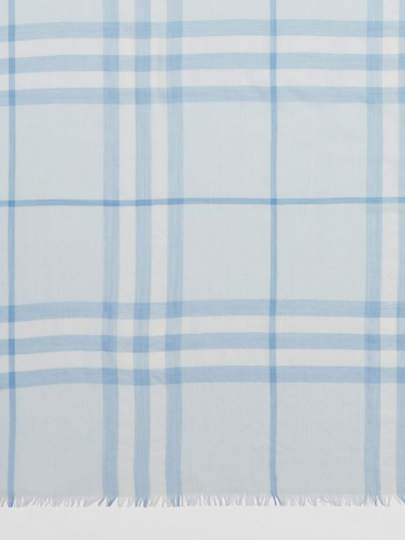 Lightweight Check Wool Silk Scarf   Burberry United Kingdom - cell image 1