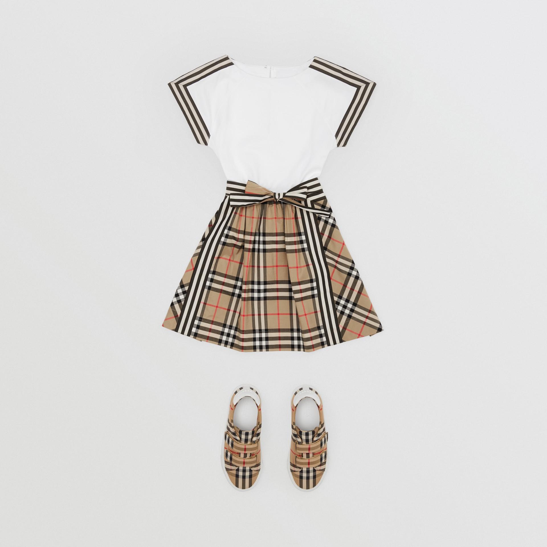 Vintage Check Detail Cotton Dress | Burberry United Kingdom - gallery image 2