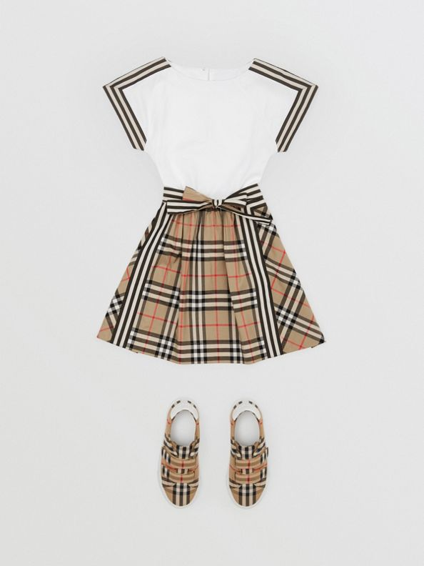 Vintage Check Detail Cotton Dress