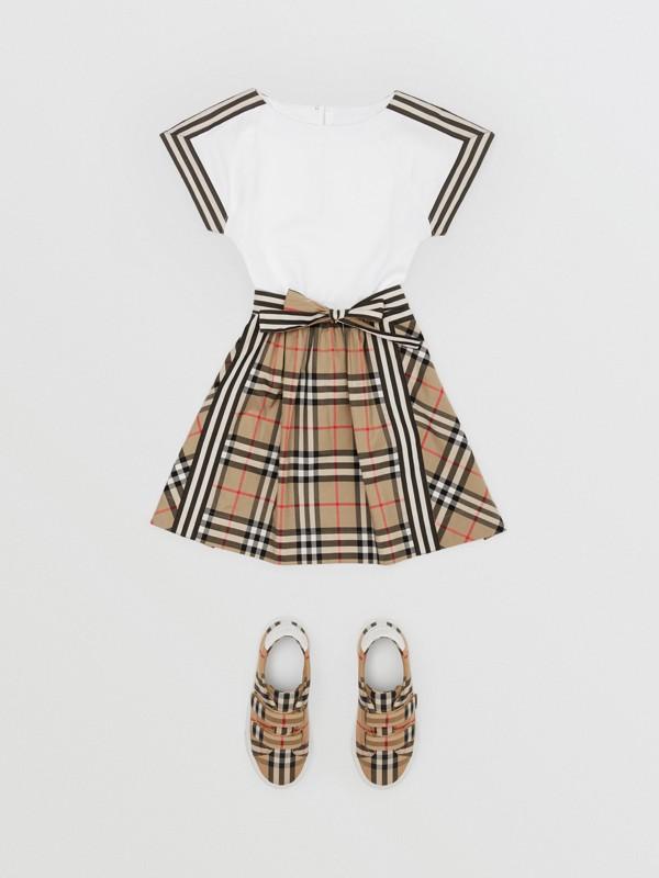 Vintage Check Detail Cotton Dress | Burberry United Kingdom - cell image 2