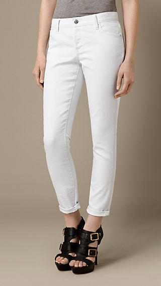 Relaxed Fit White Jeans