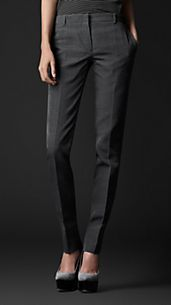 Tailored Cotton Silk Trousers