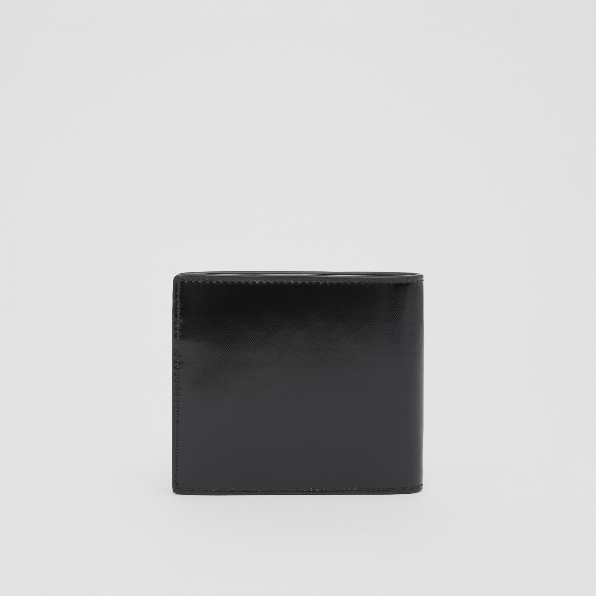 ロゴ&アイコンストライププリント インターナショナル バイフォールドウォレット (ブラック) | バーバリー - ギャラリーイメージ 4