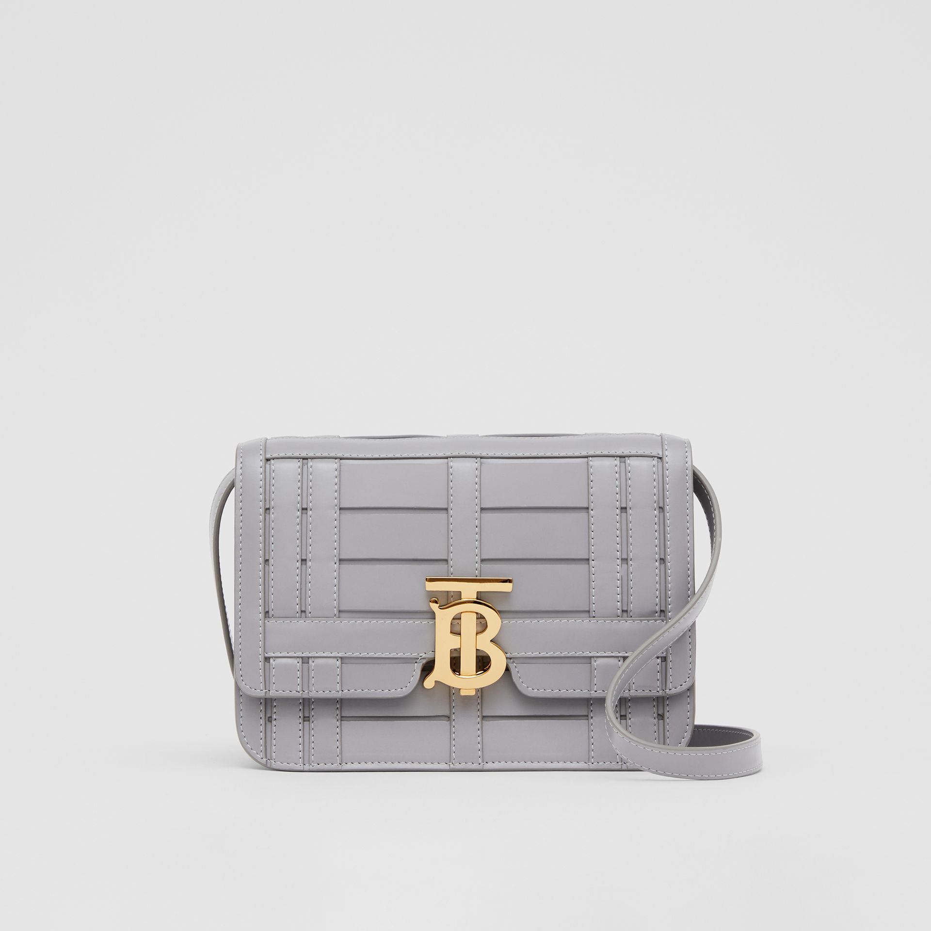 Small Woven Leather TB Bag in Cloud Grey - Women | Burberry - gallery image 0