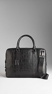 Alligator Crossbody Briefcase