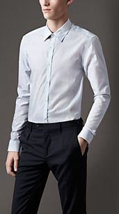 Modern Fit Pinstripe Shirt