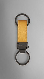 Colour Coated London Leather Key Ring