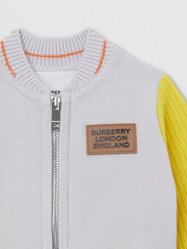 Deer Motif Wool Blend Jacket in Light Grey - Children | Burberry United Kingdom - cell image 3