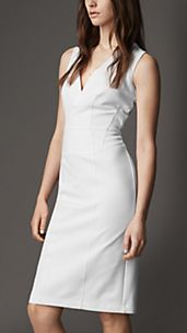Structured Corset-Jersey Dress
