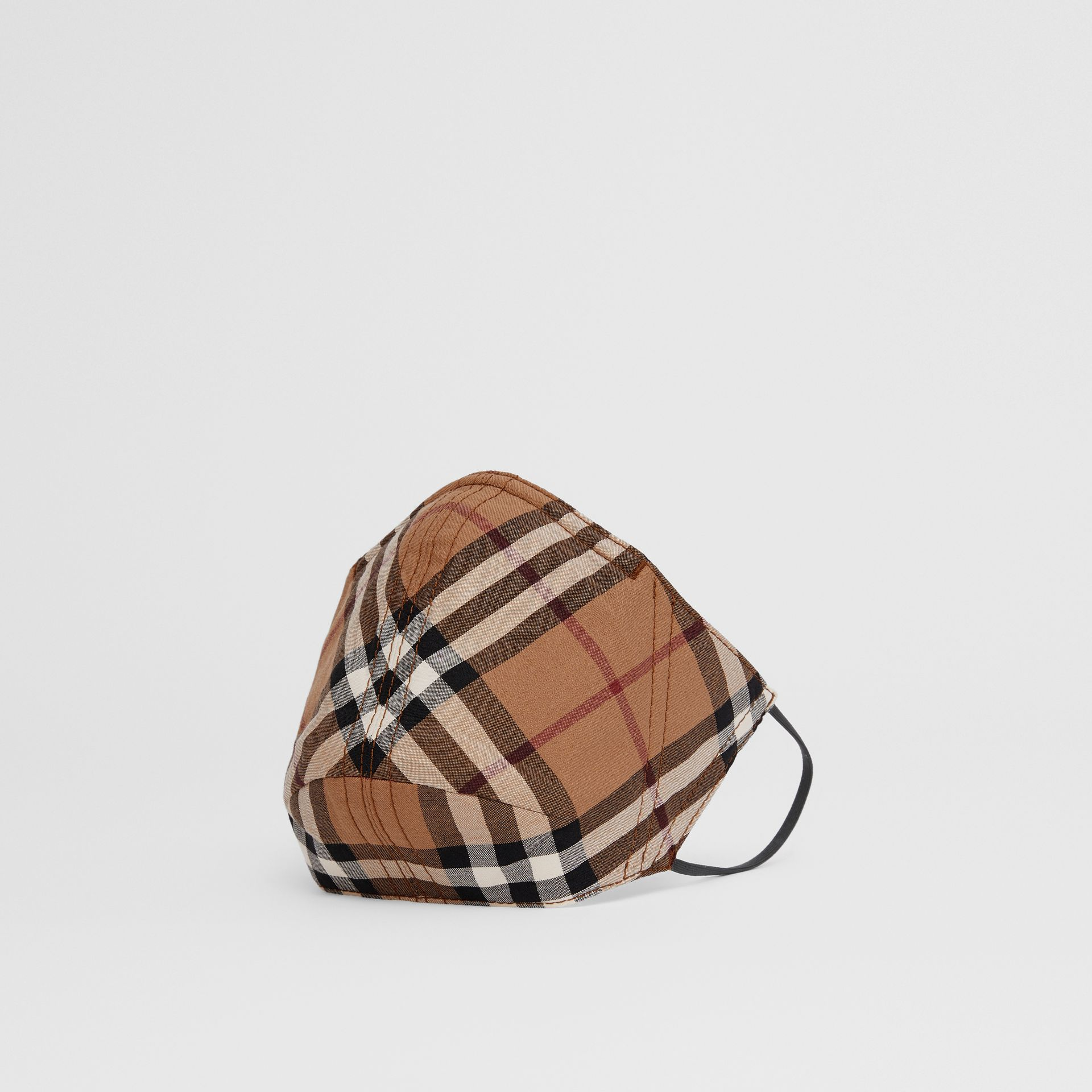 Vintage Check Cotton Face Mask in Birch Brown | Burberry United Kingdom - gallery image 0