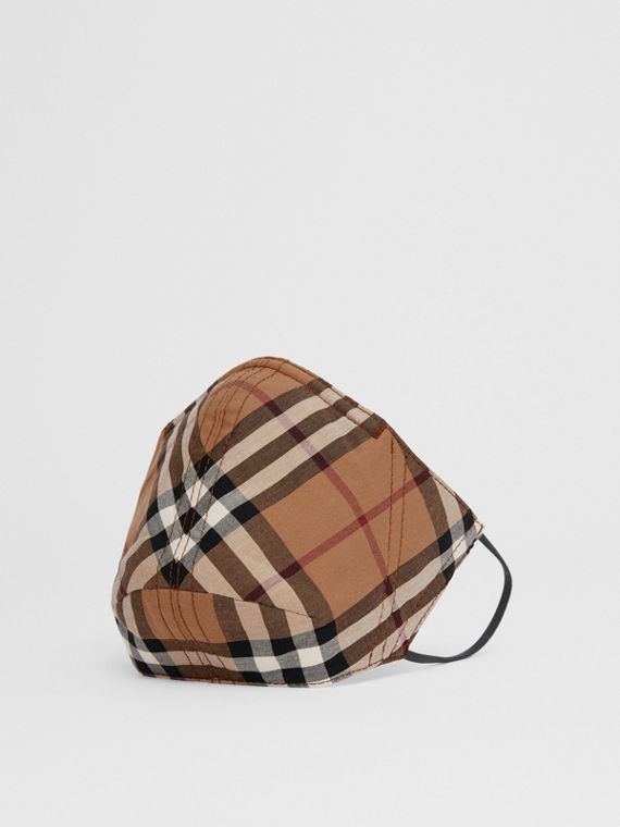 Vintage Check Cotton Face Mask in Birch Brown