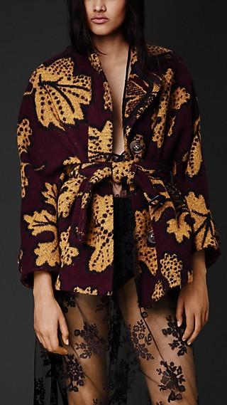 Leaf Design Blanket Jacket