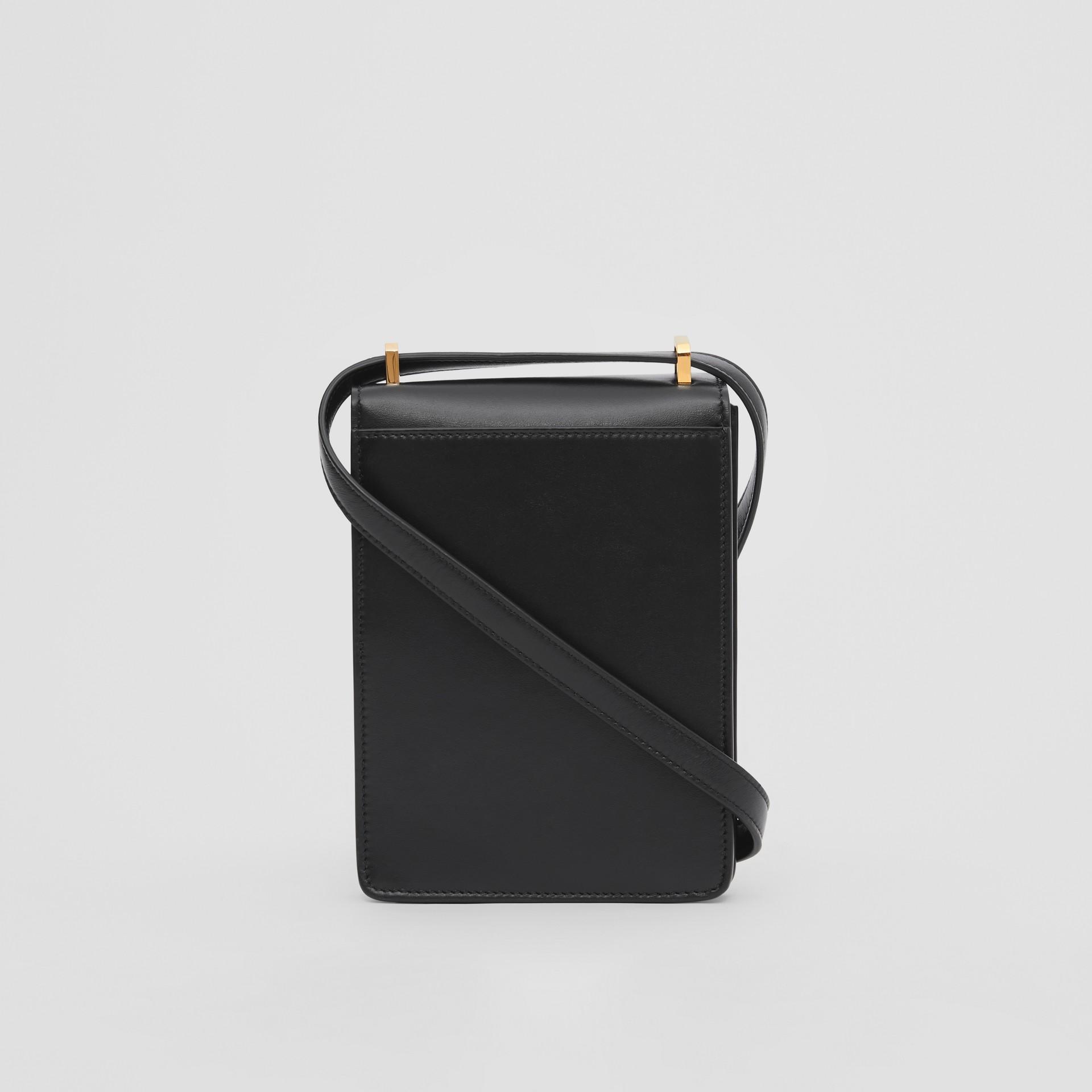 Leather Robin Bag in Black - Women | Burberry Australia - gallery image 9