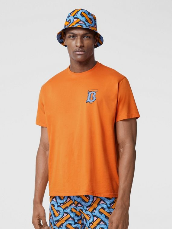 T-shirt en coton Monogram unisexe (Orange Vif)