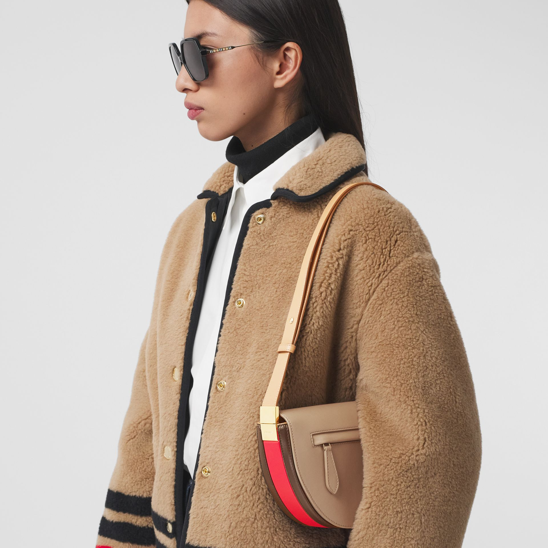 Small Leather Olympia Bag in Camel - Women | Burberry - gallery image 2