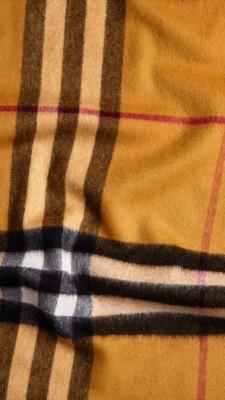 格子羊绒围巾