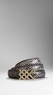 Snakeskin Buckle Belt