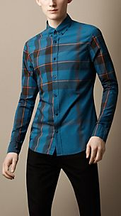 Camicia check button-down