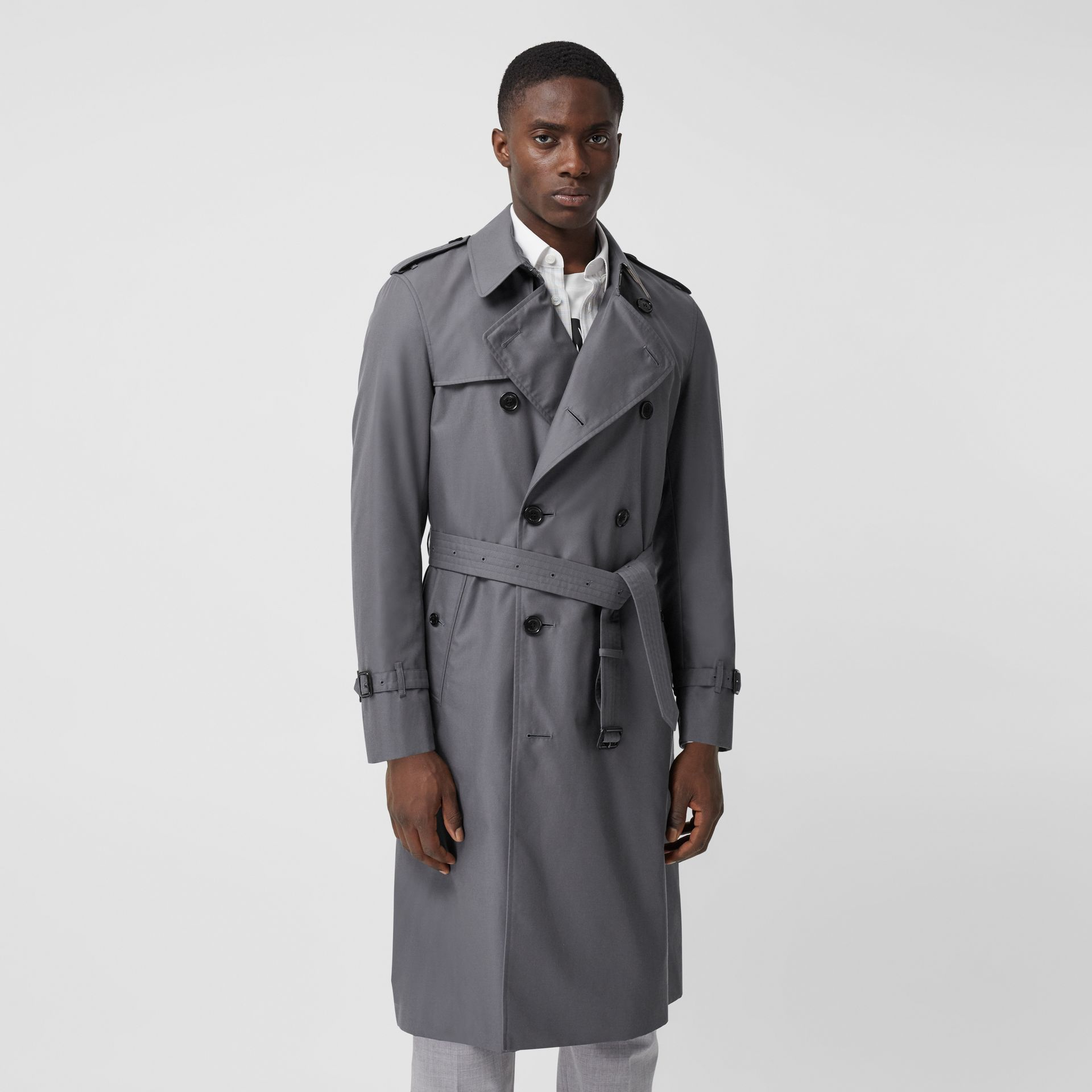 Trench Heritage long The Chelsea (Gris Moyen) - Homme | Burberry Canada - photo de la galerie 6