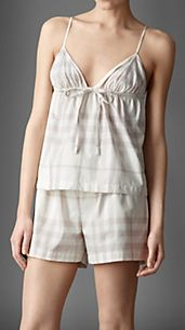 Check Cotton Camisole