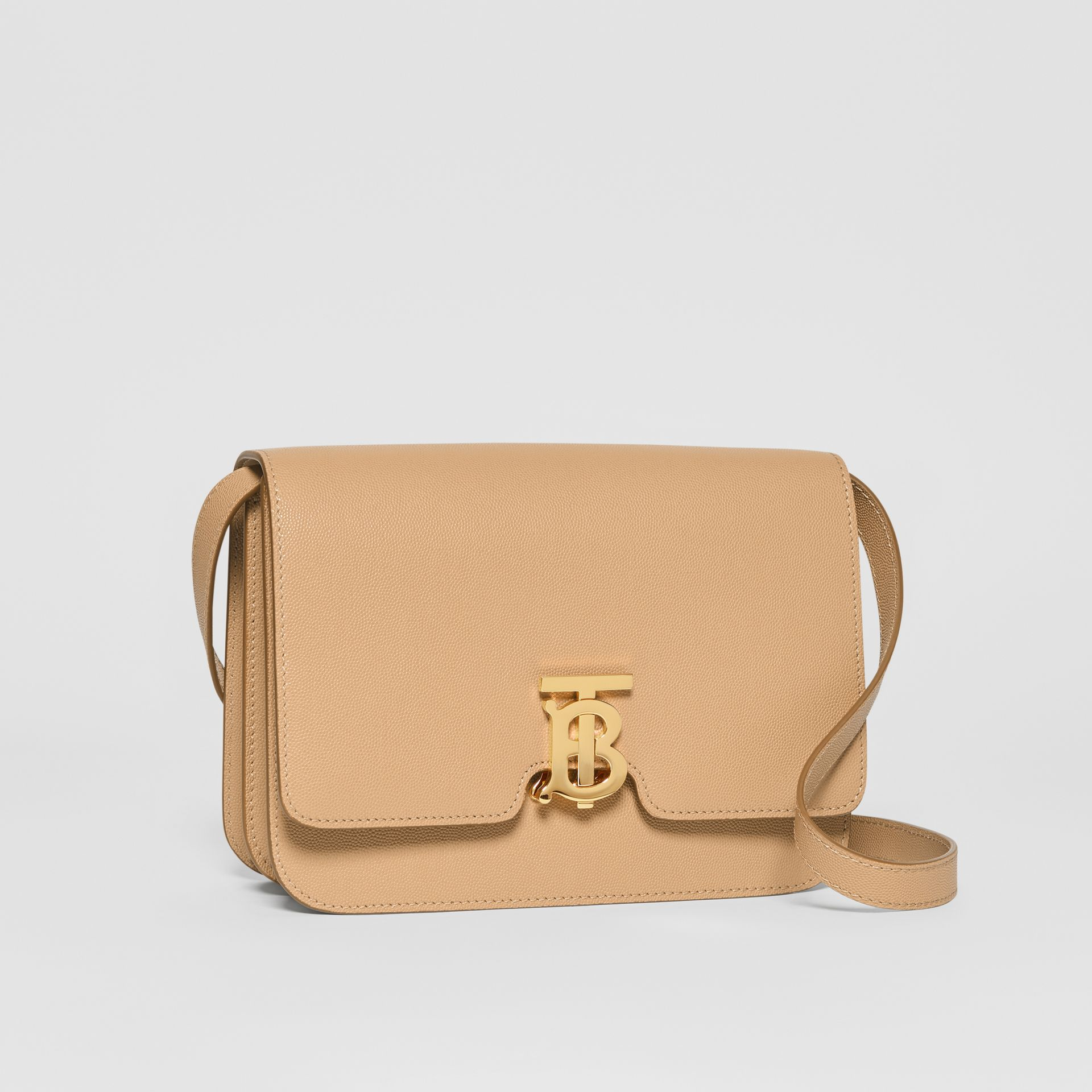Medium Grainy Leather TB Bag in Archive Beige - Women | Burberry - gallery image 6