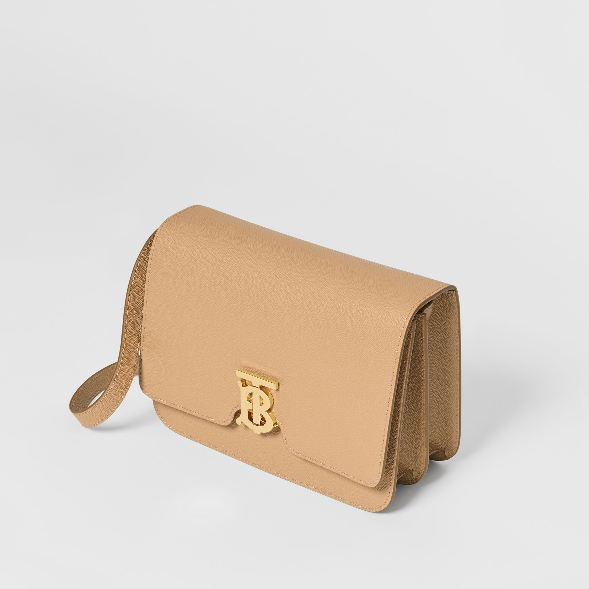 Medium Grainy Leather TB Bag in Archive Beige - Women | Burberry - gallery image 3