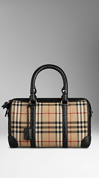 Medium Horseferry Check and Alligator Bowling Bag