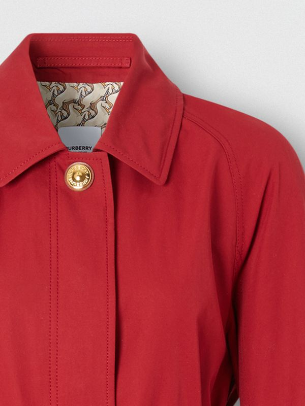 Custom Fit Tropical Gabardine Belted Car Coat in Dark Carmine - Women | Burberry - cell image 2