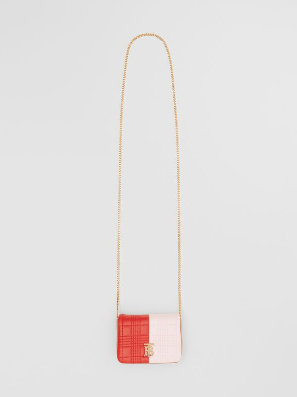 Micro Quilted Tri-tone Lambskin Lola Bag in Red/pink/camel - Women | Burberry - cell image 3