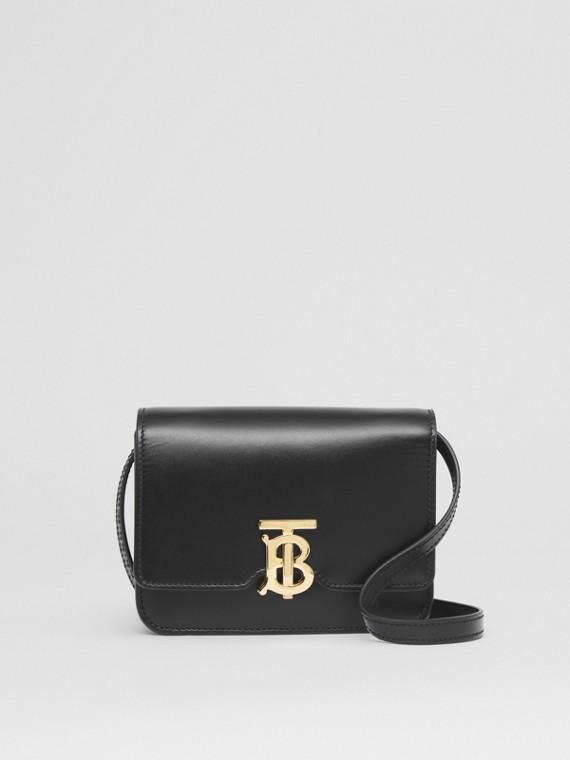Mini Leather TB Bag in Black