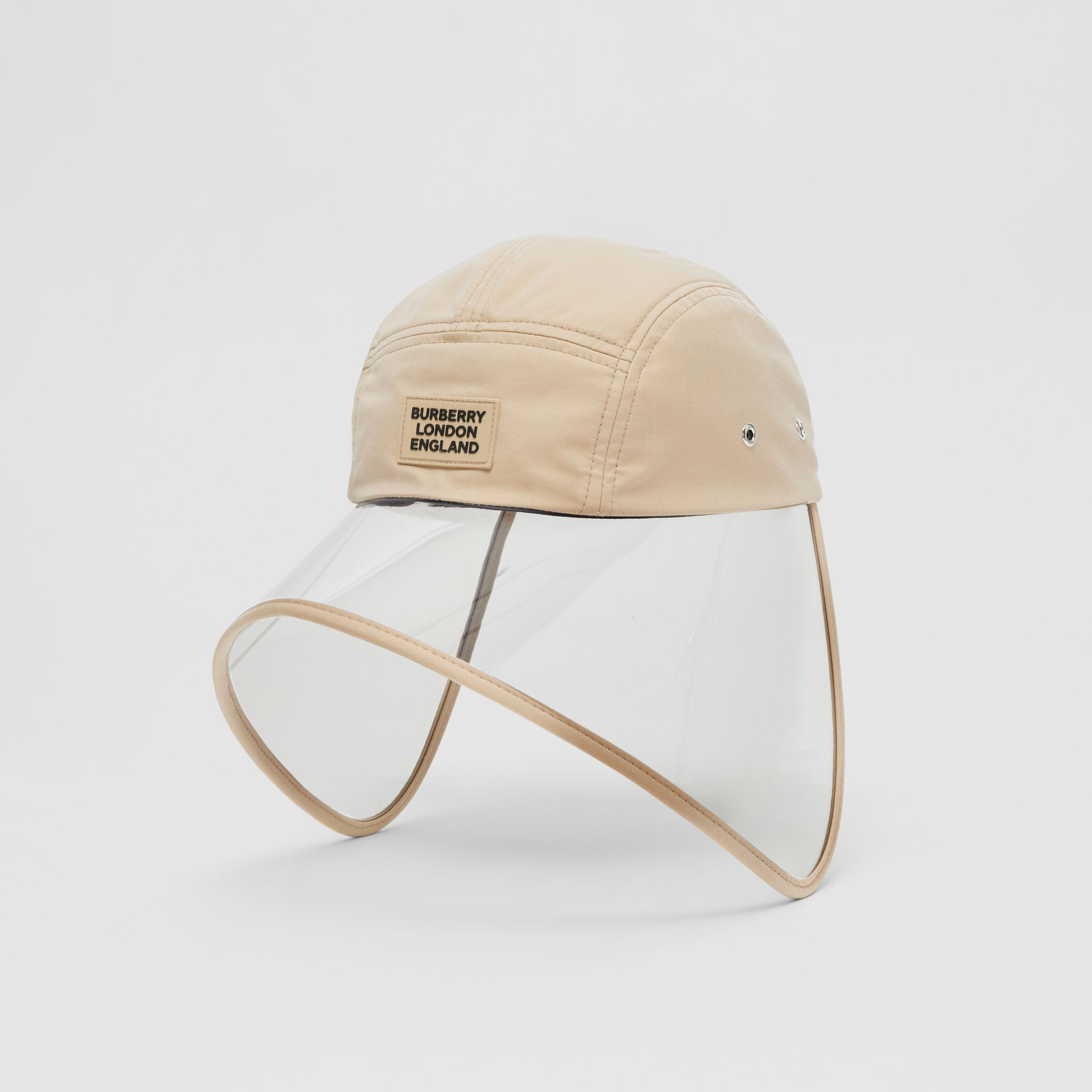Casquette à bords larges transparente en sergé de coton - Exclusivité en ligne (Fauve Doux) | Burberry - photo de la galerie 5
