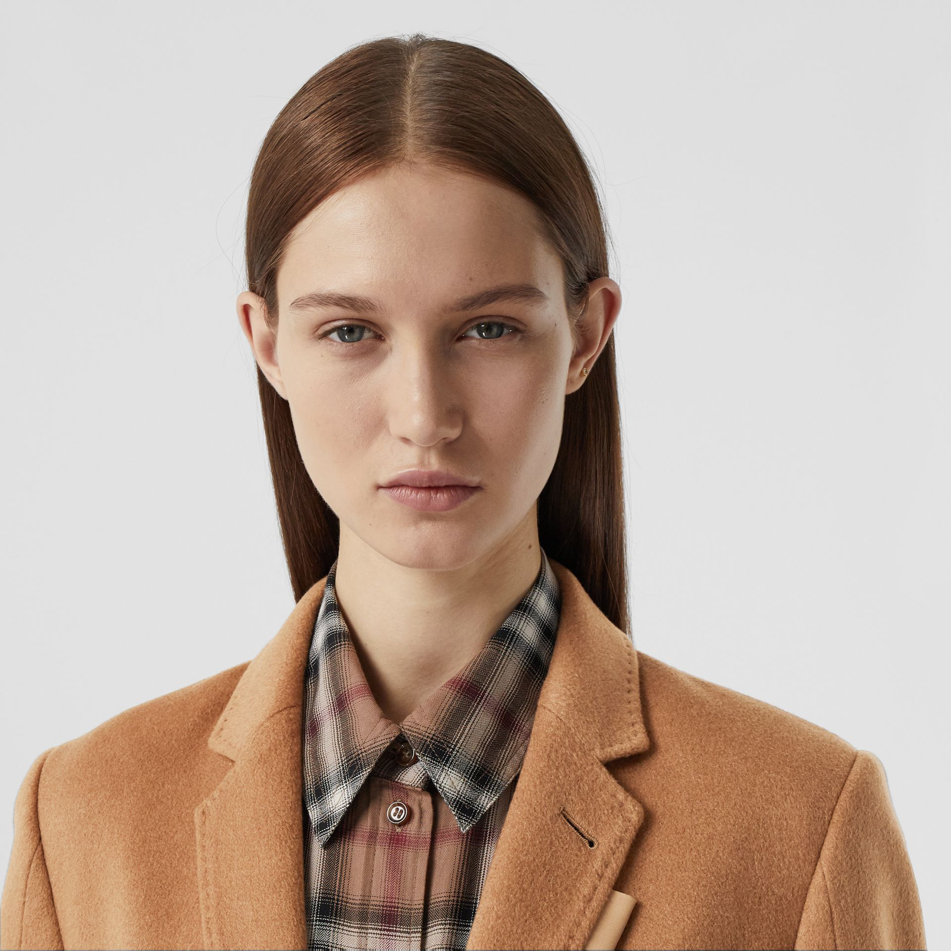 Cashmere Tailored Coat in Bronze - Women | Burberry - gallery image 1