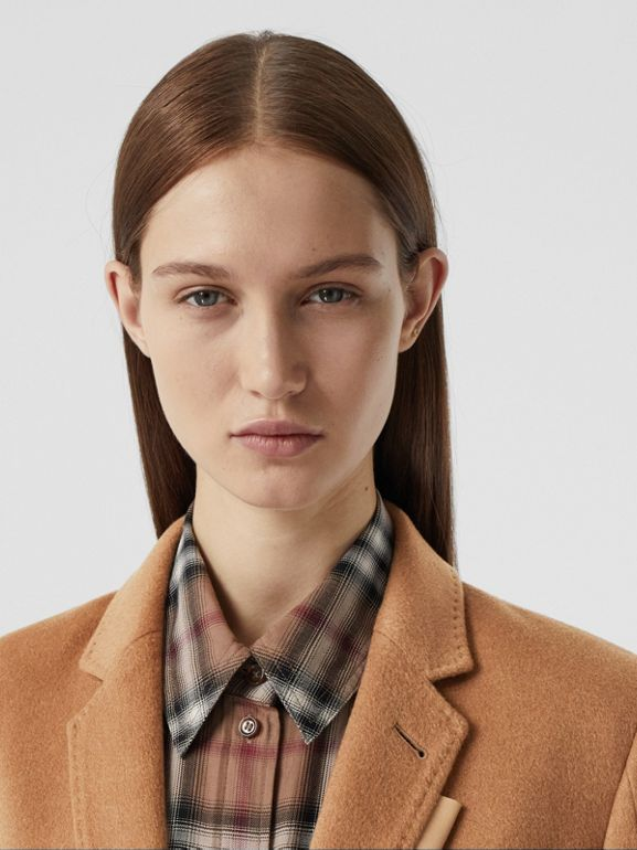 Cashmere Tailored Coat in Bronze - Women | Burberry - cell image 1