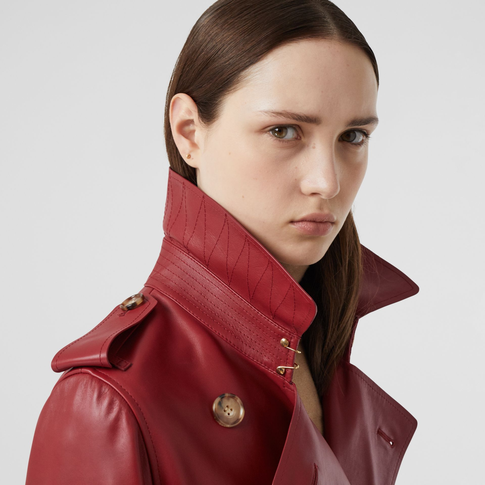 Leather Trench Coat - Women | Burberry - gallery image 3