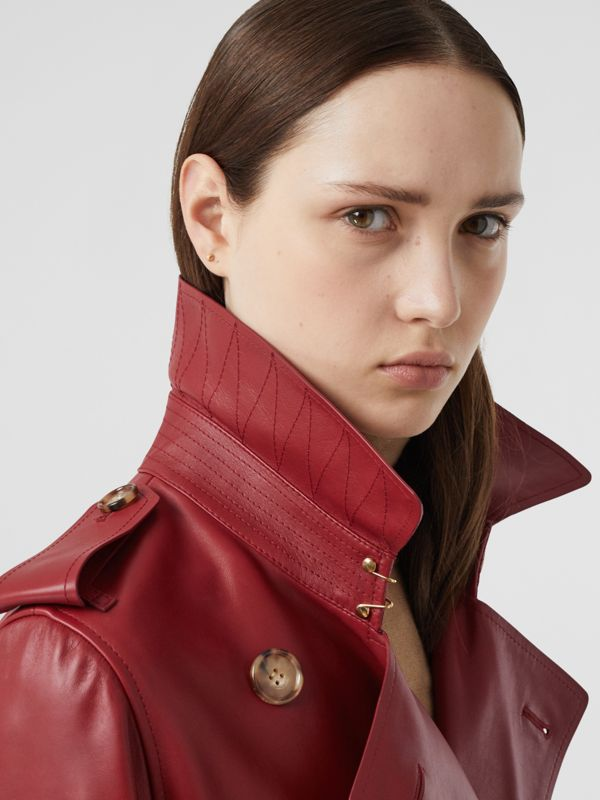 Leather Trench Coat - Women | Burberry - cell image 3