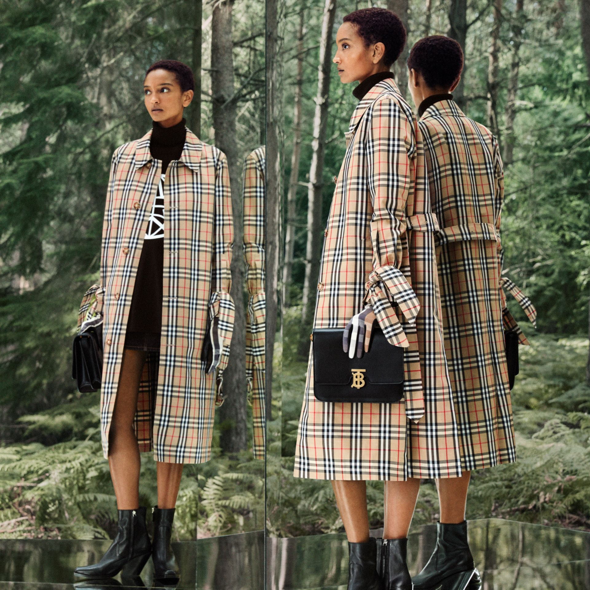 Vintage Check Recycled Polyester Car Coat - Women | Burberry - gallery image 12