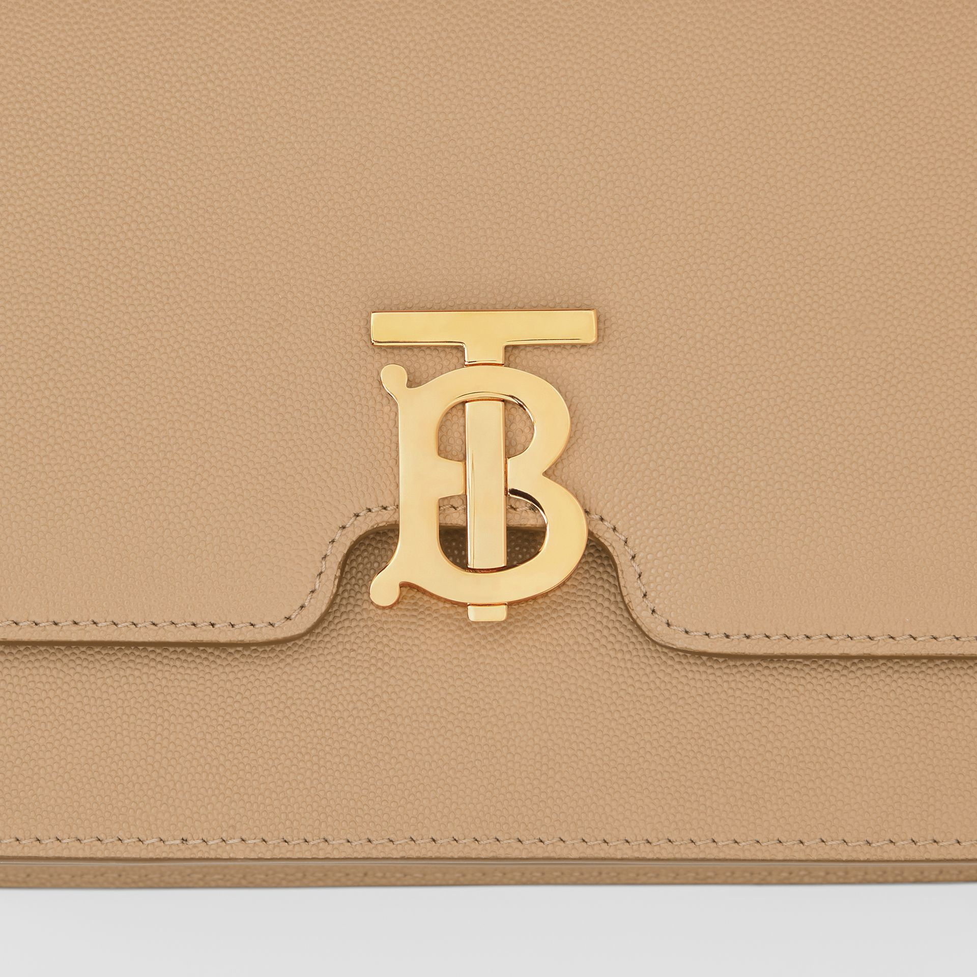 Medium Grainy Leather TB Bag in Archive Beige - Women | Burberry Canada - gallery image 1