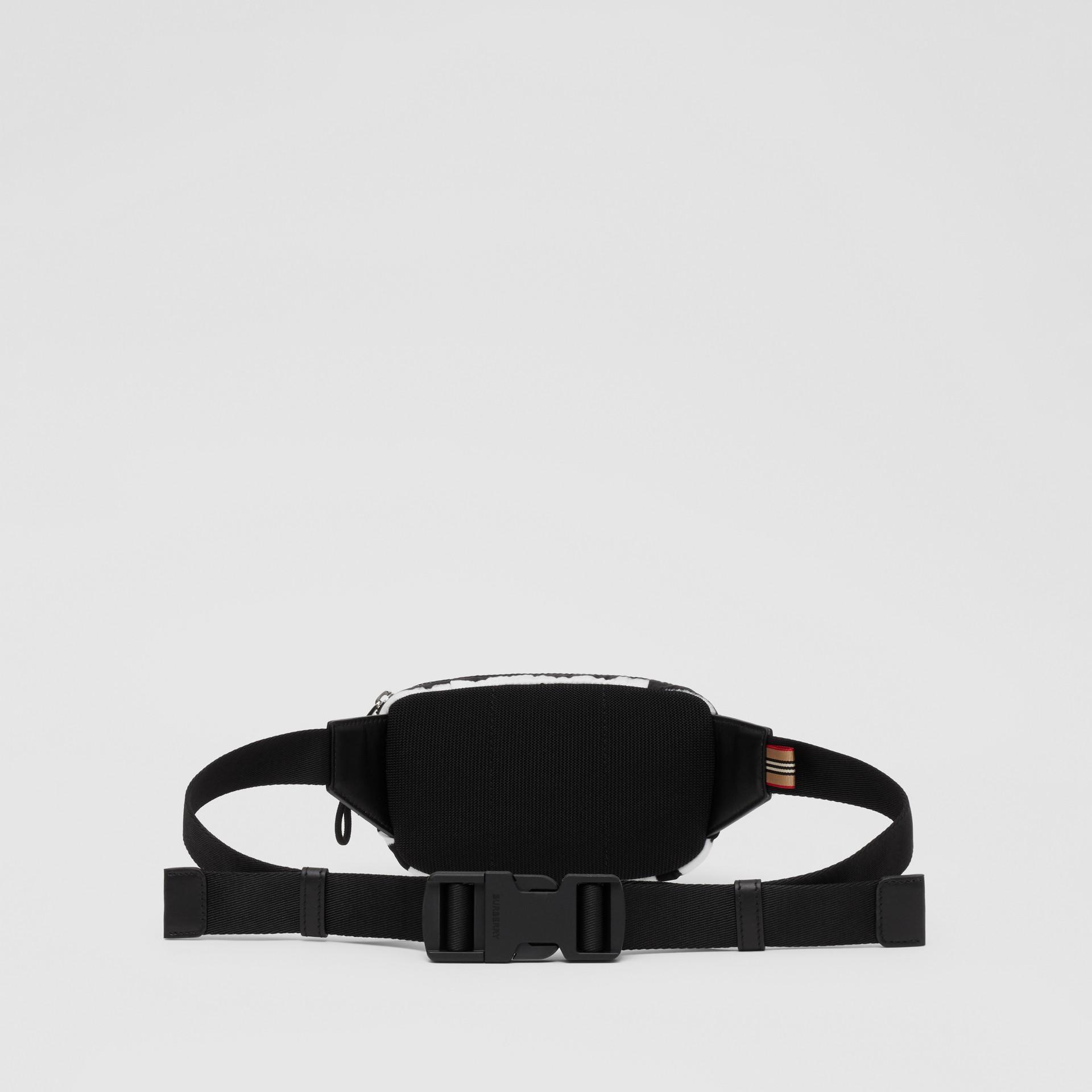 Small Watercolour Print ECONYL® Cannon Bum Bag in Black/white - Men   Burberry - gallery image 5