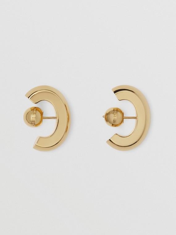 Gold-plated Earrings in Light